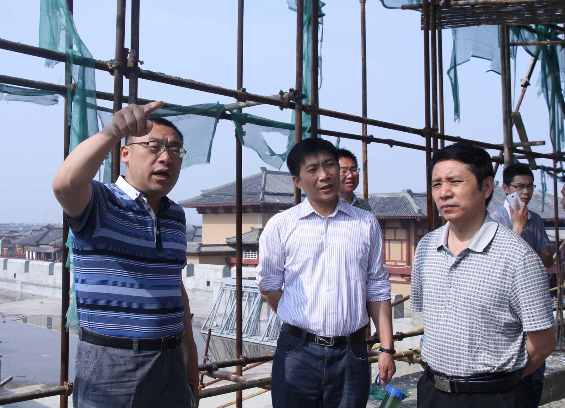 荆门市掇刀区人民政府副区长陈泽云考察中国汉城